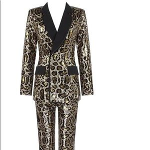 Brand New Leopard Sequin Suit Set
